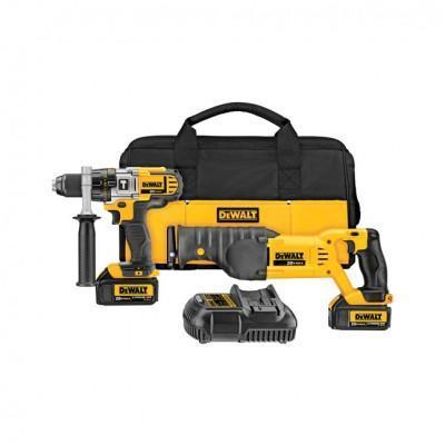 Dewalt DCK292L2 Hammer Drill and Recip Saw Combo