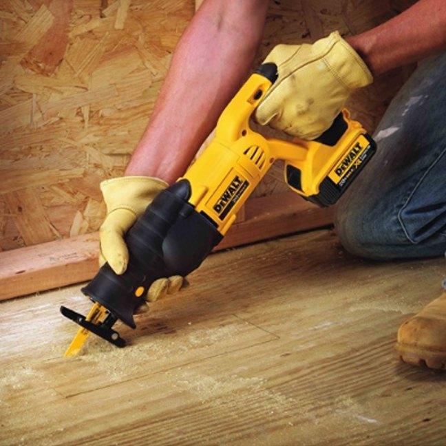 Dewalt DCS380B 20V Max Reciprocating Saw In Use 1
