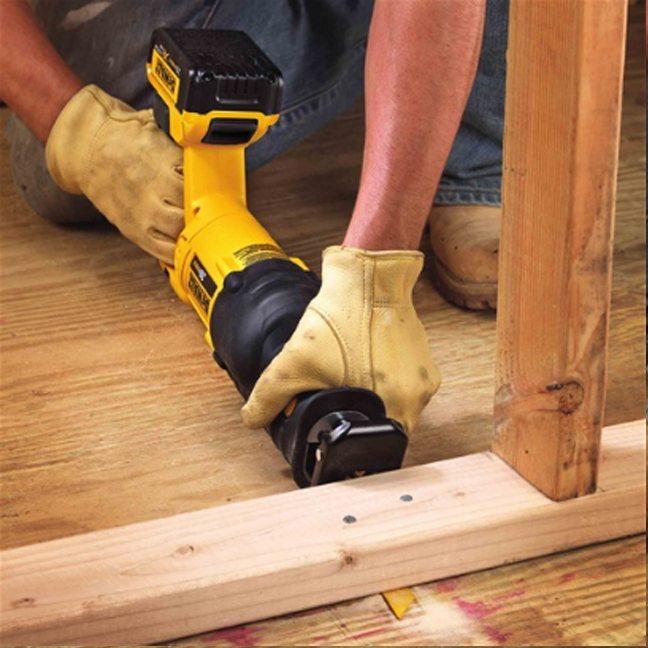 Dewalt DCS380B 20V Max Reciprocating Saw In Use 2