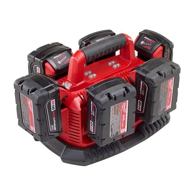 Milwaukee 48-59-1806 M18 Six Pack Sequential Charger In Use 1