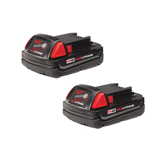 Milwaukee 48-11-1811 M18 Compact Battery Two Pack