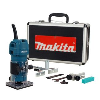 "Maktita 3709X Laminate Trimmer 1/4"" with Case"