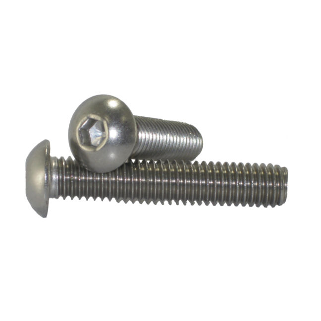 "1/2"" - 13 Button Head Socket Cap Screws Stainless Steel"