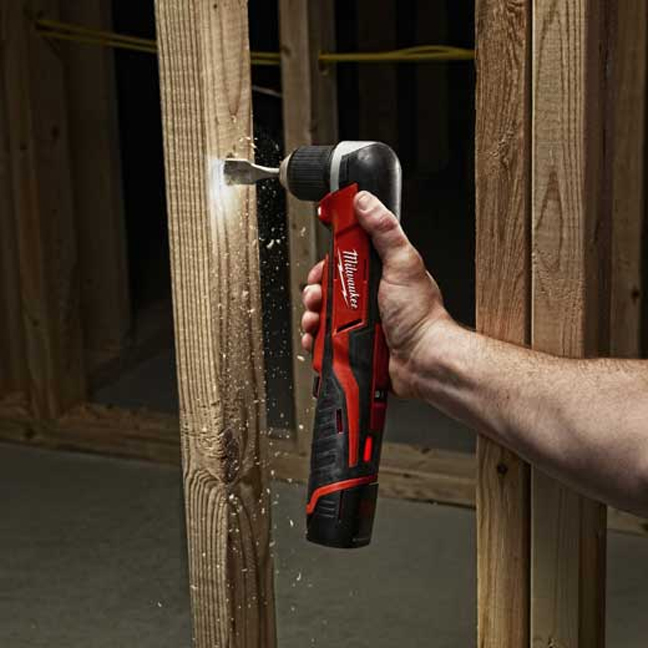 Milwaukee 2415-20 M12 Right Angle Drill In Use