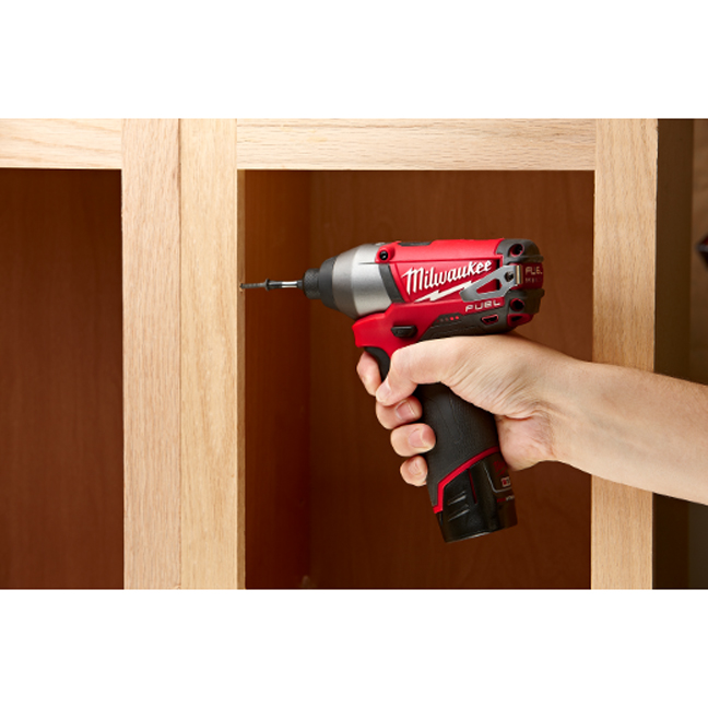 Milwaukee 2453-20 M12 Fuel Hex Impact Driver In Use