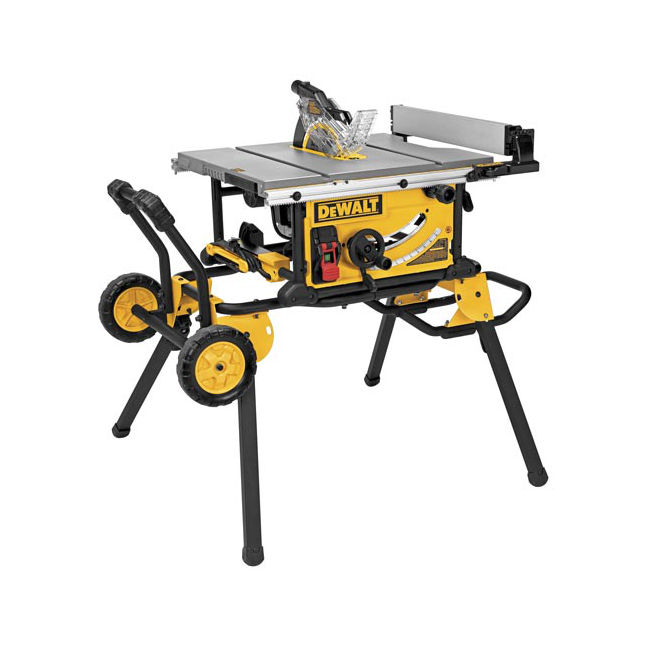 Dewalt dwe7491rs 10 jobsite table saw w rolling stand for 10 table saw motor