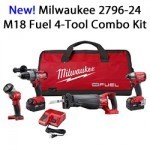 Milwaukee 2796-24 M18 Fuel 4 Tool Combo Kit