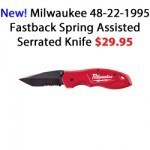 Milwaukee 48-22-1995 Fastback Spring Assisted Serrated Knife