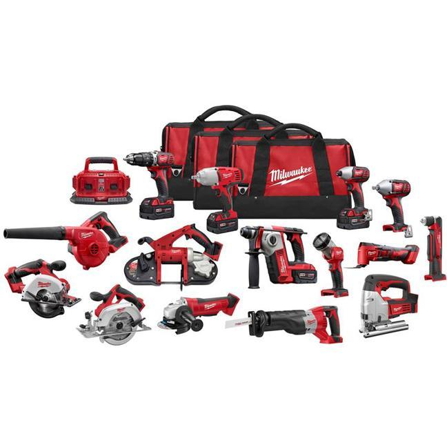 Milwaukee 2695-15 M18 Cordless 15-Piece Combo Kit
