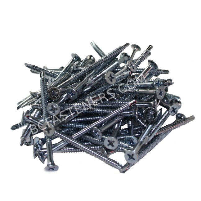 #8 Drywall TEK Screws Flat Head Zinc
