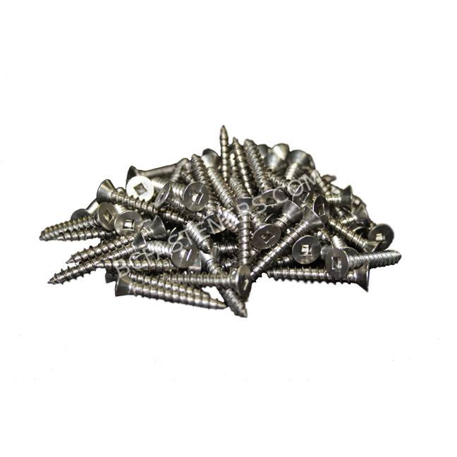 Flat Robertson Head Wood Screws Stainless Steel