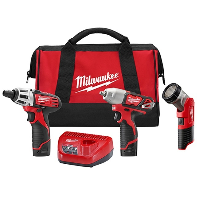 Milwaukee 2491-23 M12 Cordless 3-Tool Combo Kit