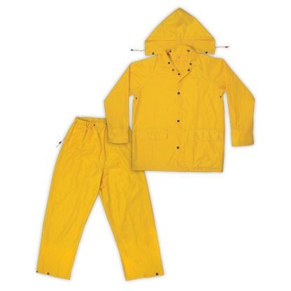 Kuny's R102 3-Piece Polyester Rain Suit Yellow