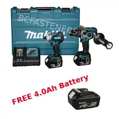 Makita DLX2055M 18V 2 Tool Brushless Combo Kit with Free Battery