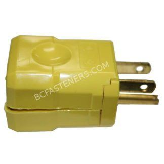 Plug Male Yellow Hubbel Square