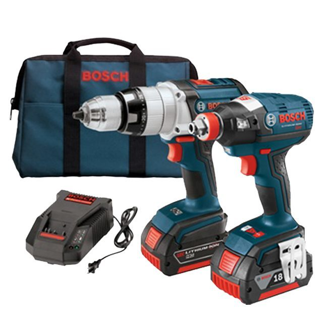 bosch clpk224 181 18v hammer drill impact driver kit. Black Bedroom Furniture Sets. Home Design Ideas