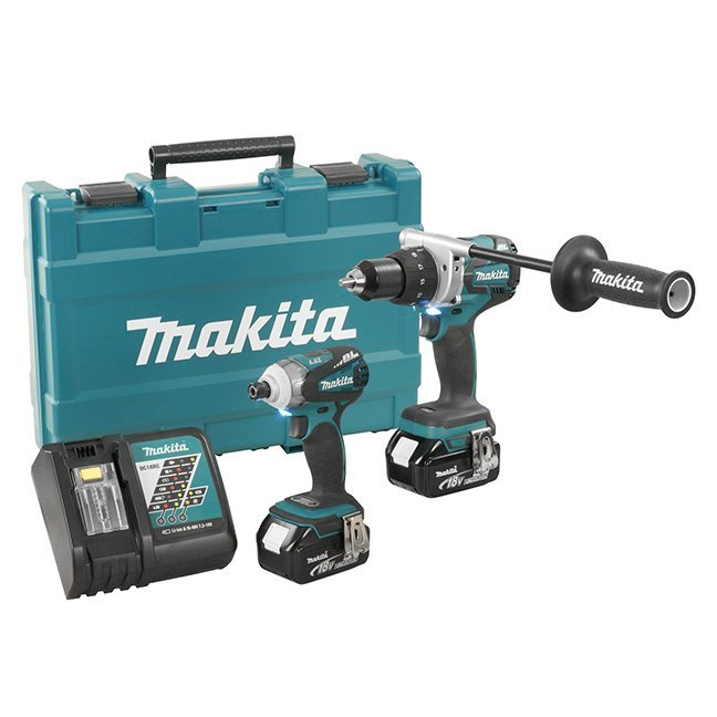 "Makita DLX2057M 1/2"" 2 Piece Cordless Combo Kit"