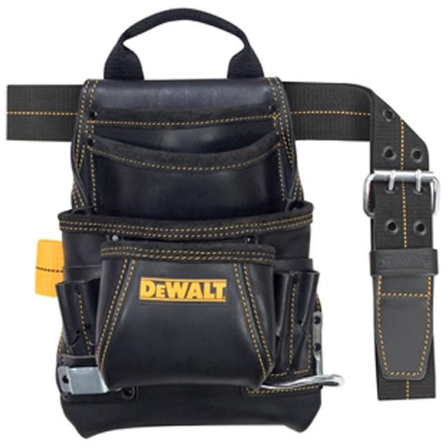 DeWalt DG5433 10-Pocket Carpenter's Leather Nail & Tool Bag
