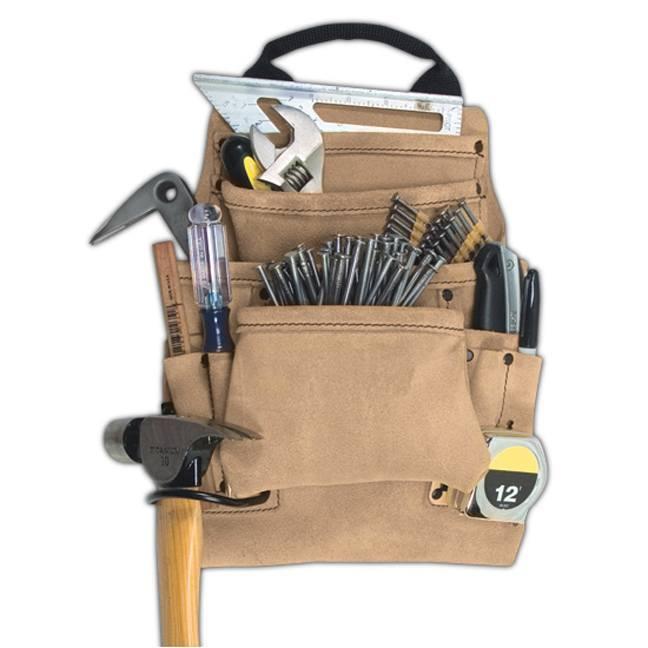 Kuny's AP-923T 10-Pocket Carpenter's Nail & Tool Bag