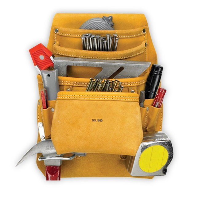 Kuny's AP-I933 10-Pocket Carpenter's Nail & Tool Bag