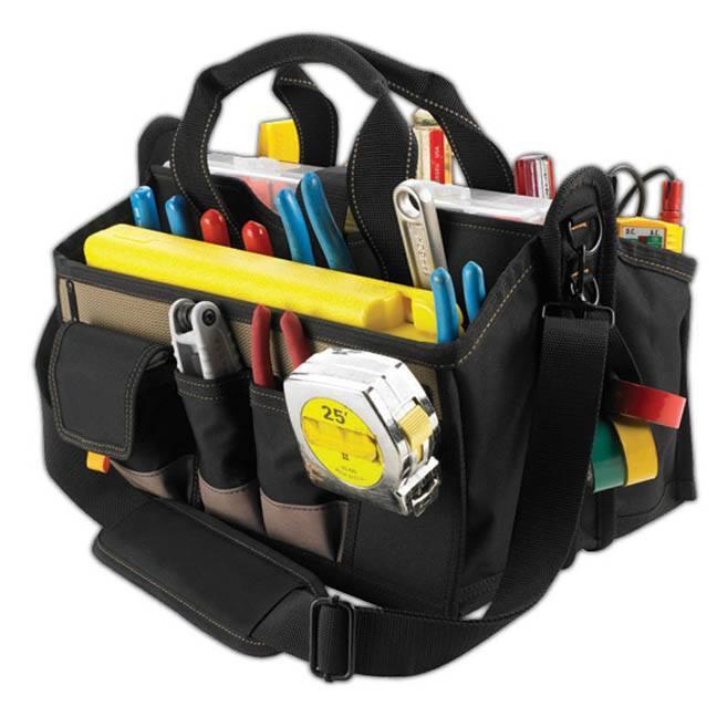 """Kuny's SW-1529 15-Pocket 16"""" Center Tray Tool Bag"""