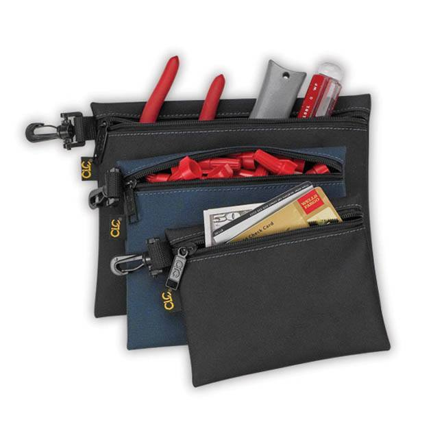 Kuny's SW-955 3 Multi-Purpose Clip-On Zippered Bags