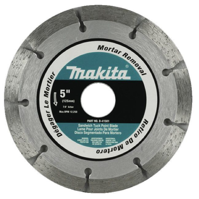 "Makita D-41501 5"" x 7/8"" Sandwich Tuck Point Diamond Blade"
