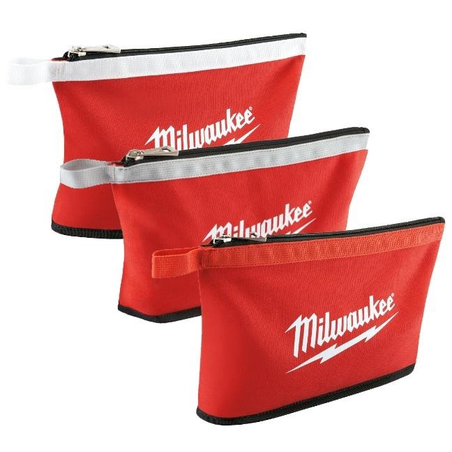 Milwaukee 48-22-8193 3 Pack Zipper Pouches