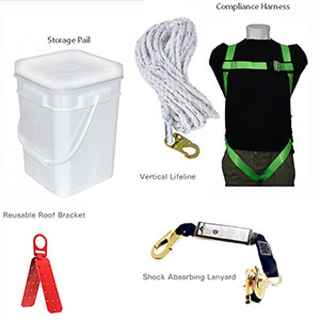 PeakWorks RK4-50 50ft Compliance Roofer's Kit