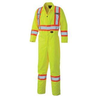 Pioneer 5519T Hi-Viz Safety Poly Cotton Coverall