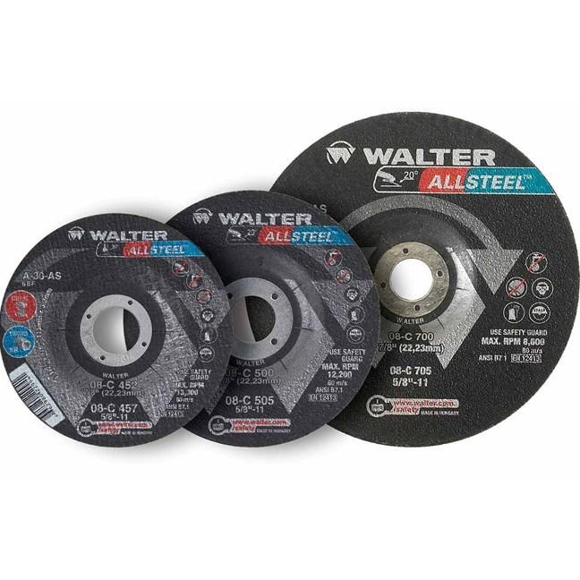 """Walter 08C452 4-1/2"""" Allsteel General Purpose Grinding Wheel"""
