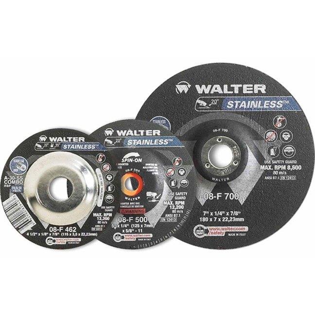 "Walter 08F450 4-1/2"" Stainless Steel Grinding Wheel"