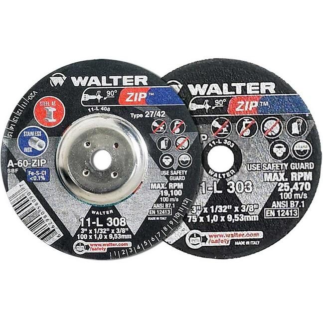 """Walter 11L302 3"""" Zip Die Grinder Cutting & Grinding Wheel"""