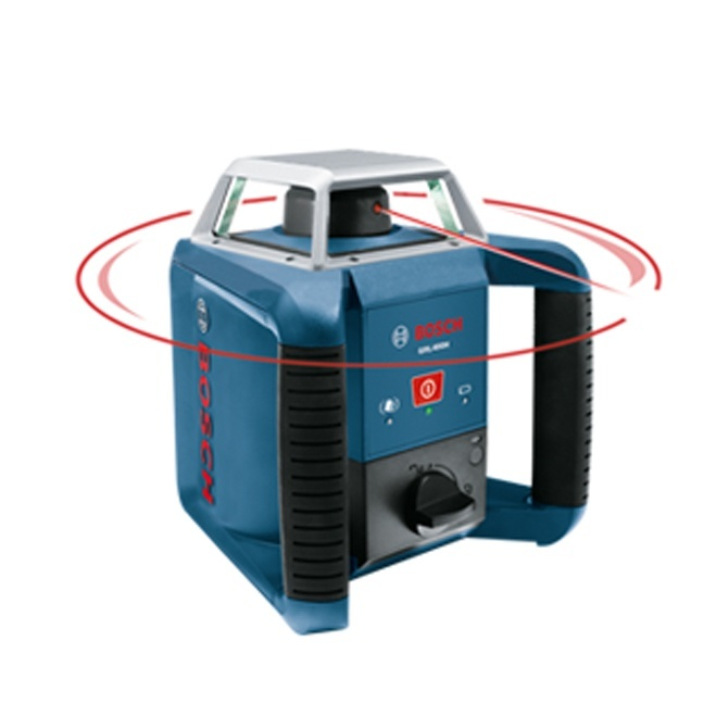 Bosch grl400h self leveling rotary laser for Location niveau laser exterieur