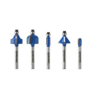 Dremel TR770 Trio 5-Piece Starter Carbide Router Bit Set