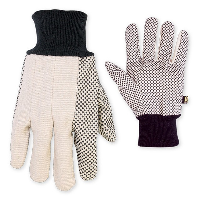 Kuny's PK2006 Cotton Canvas Gloves with Gripper Dots - 3pk
