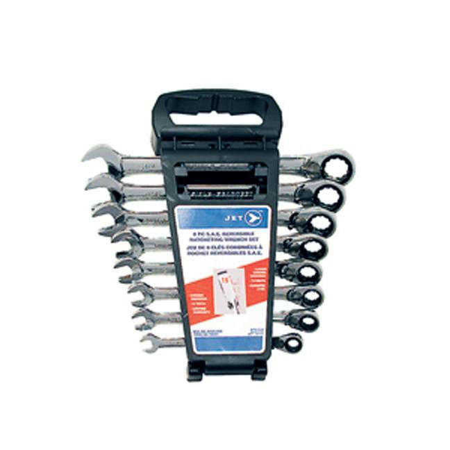 Jet 700321 8 PC Long SAE Ratcheting Combination Wrench Set