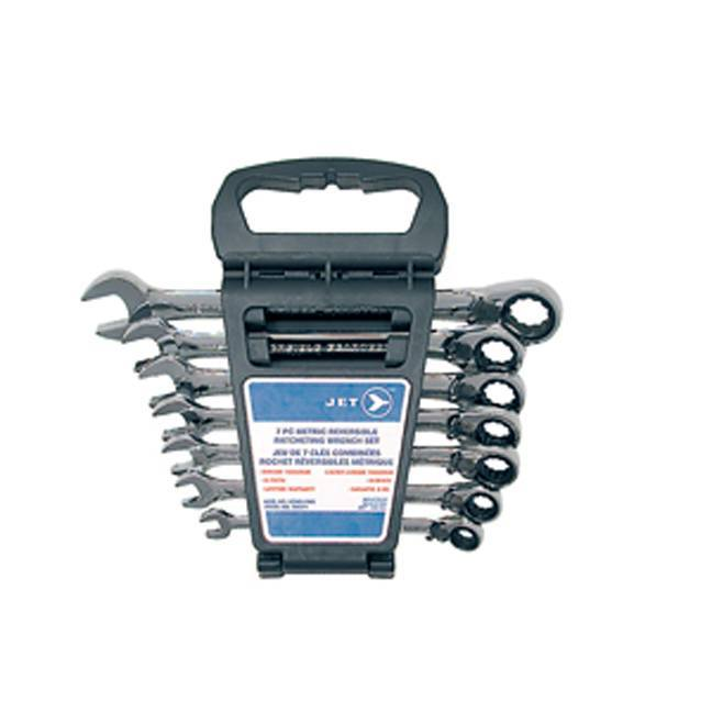 Jet 700371 7 PC Long Metric Ratcheting Combination Wrench Set