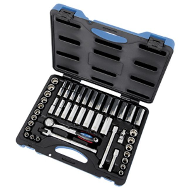 "Jet 600242 45 PC 3/8"" DR SAE Metric Socket Wrench Set"
