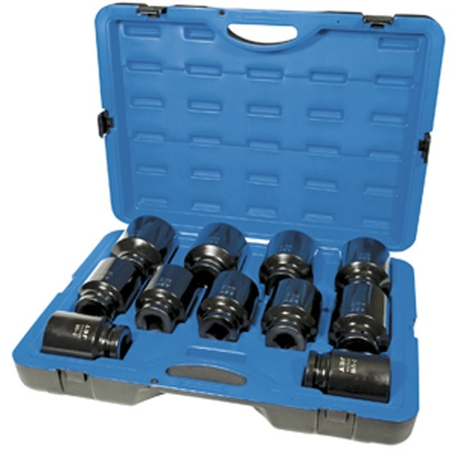 "Jet 610504 11 PC 1"" DR Deep SAE Impact Socket Set - 6 Point"