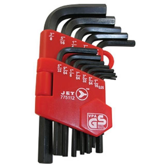 Jet 775112 13 PC SAE Short Arm Hex Key Set