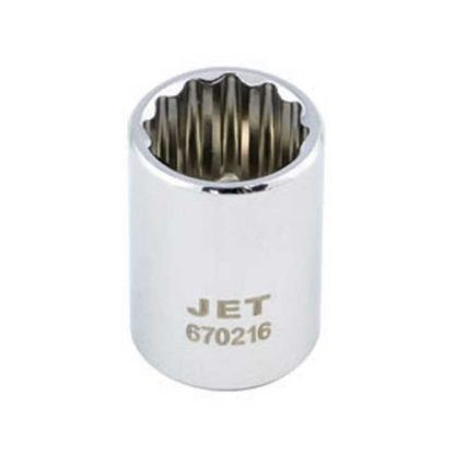 Jet 672621 Regular Chrome Socket - 12 Point