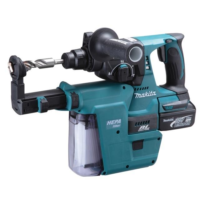 makita dhr242rmev 15  16 u0026quot  18v brushless rotary hammer kit