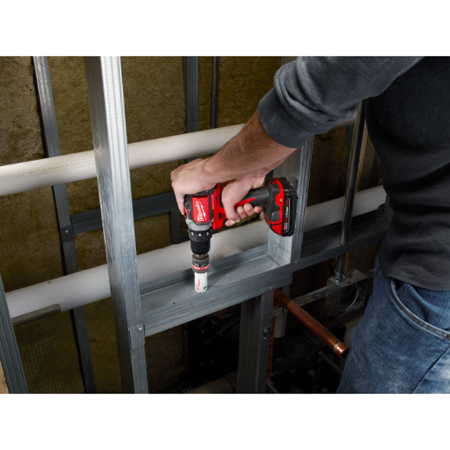 Milwaukee 2701-20 M18 Compact Brushless Drill Driver In Use 1