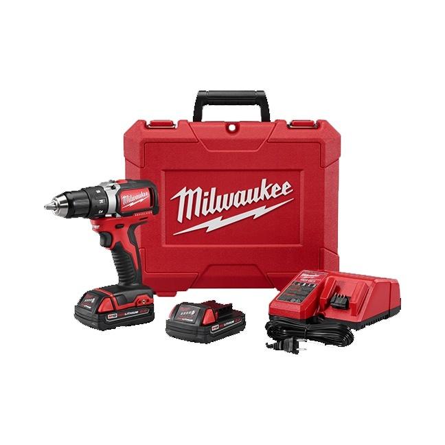 "Milwaukee 2701-22CT M18 1/2"" Compact Brushless Drill Driver Kit"