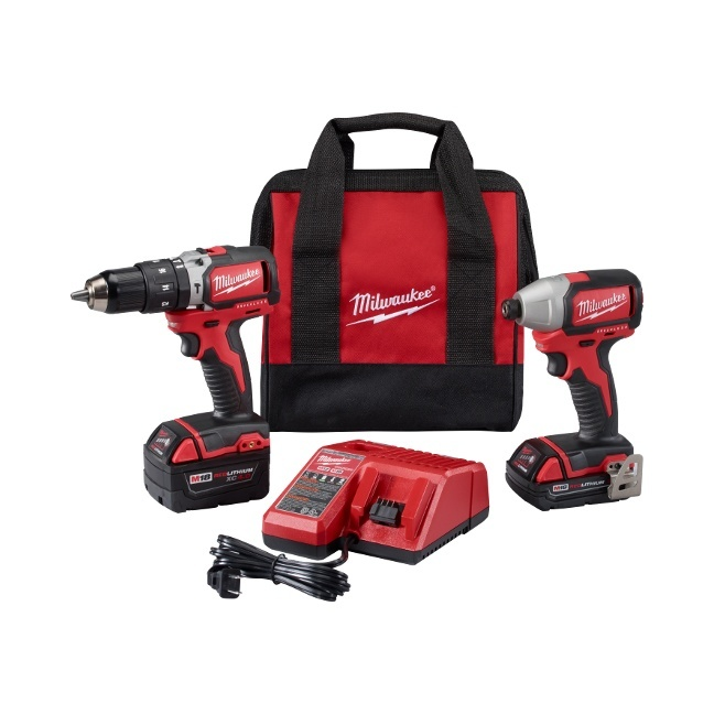 Milwaukee 2799-22CX M18 Brushless Hammer Drill & Impact Driver Kit