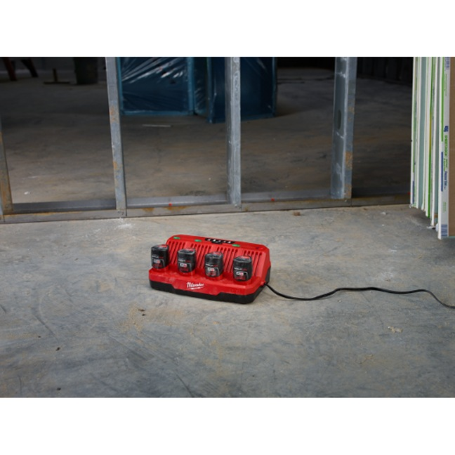 Milwaukee 48-59-1204 M12 Four Bay Sequential Charger104 In Use 3