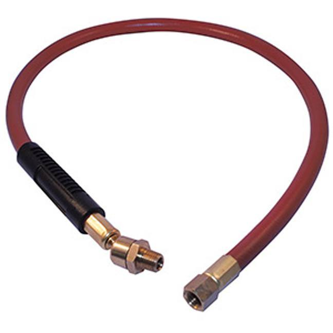 """Jet 408172 3/8"""" x 3' Air Hose Whip With Swivel"""