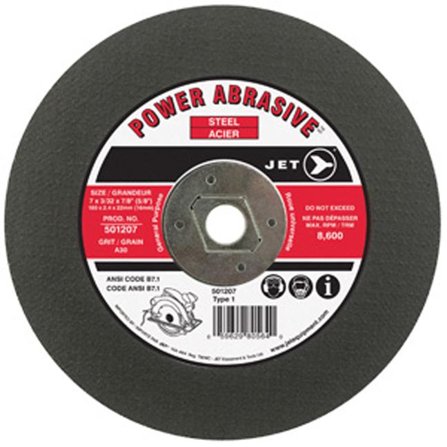 """Jet 501207 7 x 3/32 x 5/8"""" (diamond 7/8"""") A30 T1 Cut-Off Wheel"""