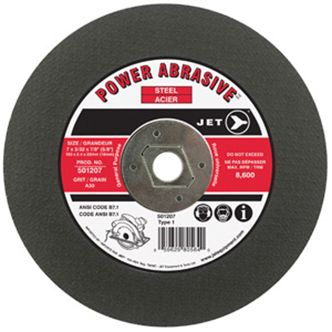 Jet 501217 10 x 3/32 x 5/8 A30 T1 Cut-Off Wheel